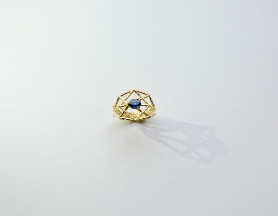 Structure Sapphire Ring