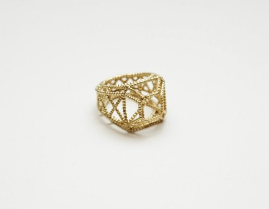 Granulation College Ring+Diamond